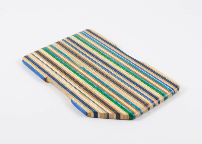 skateboard recycled wallet