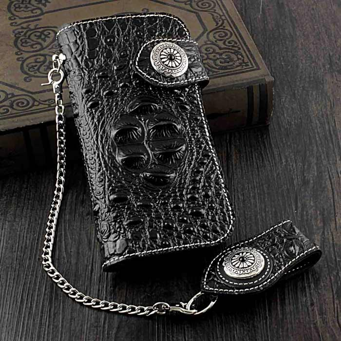 Crocodile-Biker-Wallet