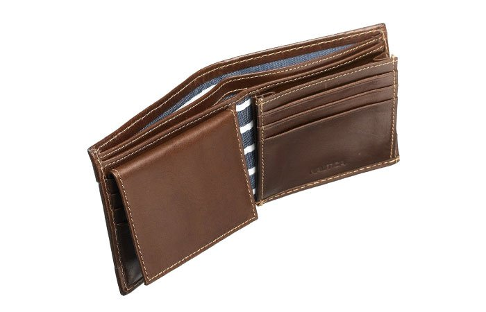 Nautica-Milled-Leather-Wallet